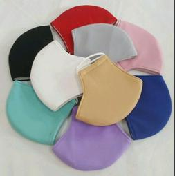 triple layers 2 pc cloth face mask