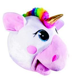 Unicorn Mascot Animal Head Mask School Sports Events Adult C