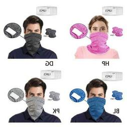 2 Pack Unisex Sport Neck Gaiter Scarf Cycling Face Mask with