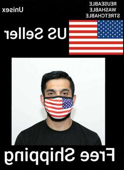 Unisex Face Mask American Flag Polyester Comfortable Fit