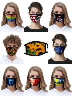Unisex Face Mask Reusable Washable Cover Masks Style Fashion