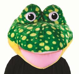 Unisex Frog Mask Amphibian Animal Mascot Head Cute Halloween