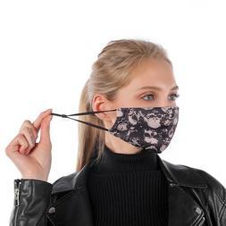 Black Unisex Women Men Face Mask Reusable Washable Cloth Cov