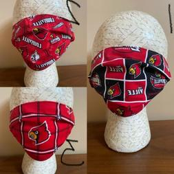 University Of Louisville UOfL EXTRA LARGE FACE MASK 100% COT