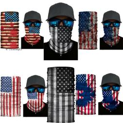 US Flag Neck Warmer Gaiter Face Scarf Over Masks Balaclava M