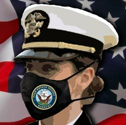 US NAVY Veteran Adult Unisex and Adult large Face Masks