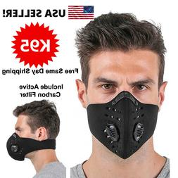 USA Activated Carbon Air Purifying Face Mask Cycling Reusabl