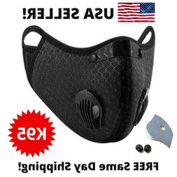 Reusable Outdoor Face Mask /w Valves & 5-Layer Filter - Brea