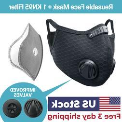 USA Seller Cycling Air Purifying Face Mask Washable Reusable