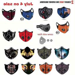 USA seller Cycling Face Mask With Active Carbon Filter Breat