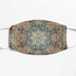Vintage Antique Persian Carpet Print Face Mask