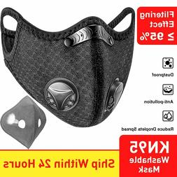Washable and Reusable Sport Face Mask with filter and valve