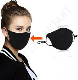 Washable Black Face Mask Men Women Protective Sports Biking