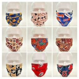 Washable Cotton Cloth Fabric Face Mask 3 Layer - Reversible!