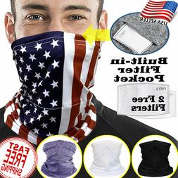washable neck gaiter filter face mask cooling