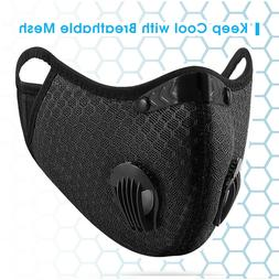 Washable Sports Mask with Filter & Valves Ships from the USA