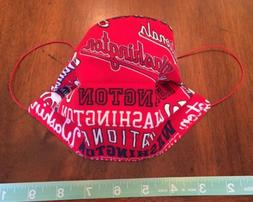 Washington Nationals Baseball handmade face mask washable an