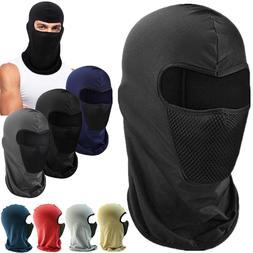 One Hole Men Balaclava Full Face Mask Mouth Cover Bike Ski S