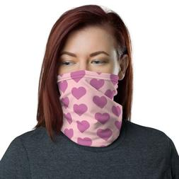 Face Mask for Women Men Love Heart Girls Pink Purple Neck Ga