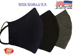 X X Large ]Big sizeFace Mask Three Layers 100% Cotton Premiu