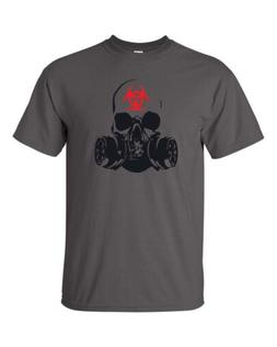 Zombie Gas Mask Bio Hazard Zombies Warfare Dead Men's Tee Sh